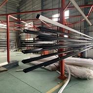 广东木纹转印铝方通厂家产品上机做货