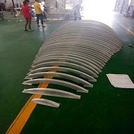 广东弧形铝方通厂家产品做造型