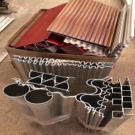 各种铝型材产品展示