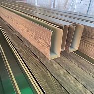 1.0厚木纹转印铝方通打包发货