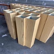 隔断铝方通做木纹实拍