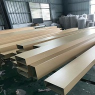 各种做好的热转印木纹铝型材成品